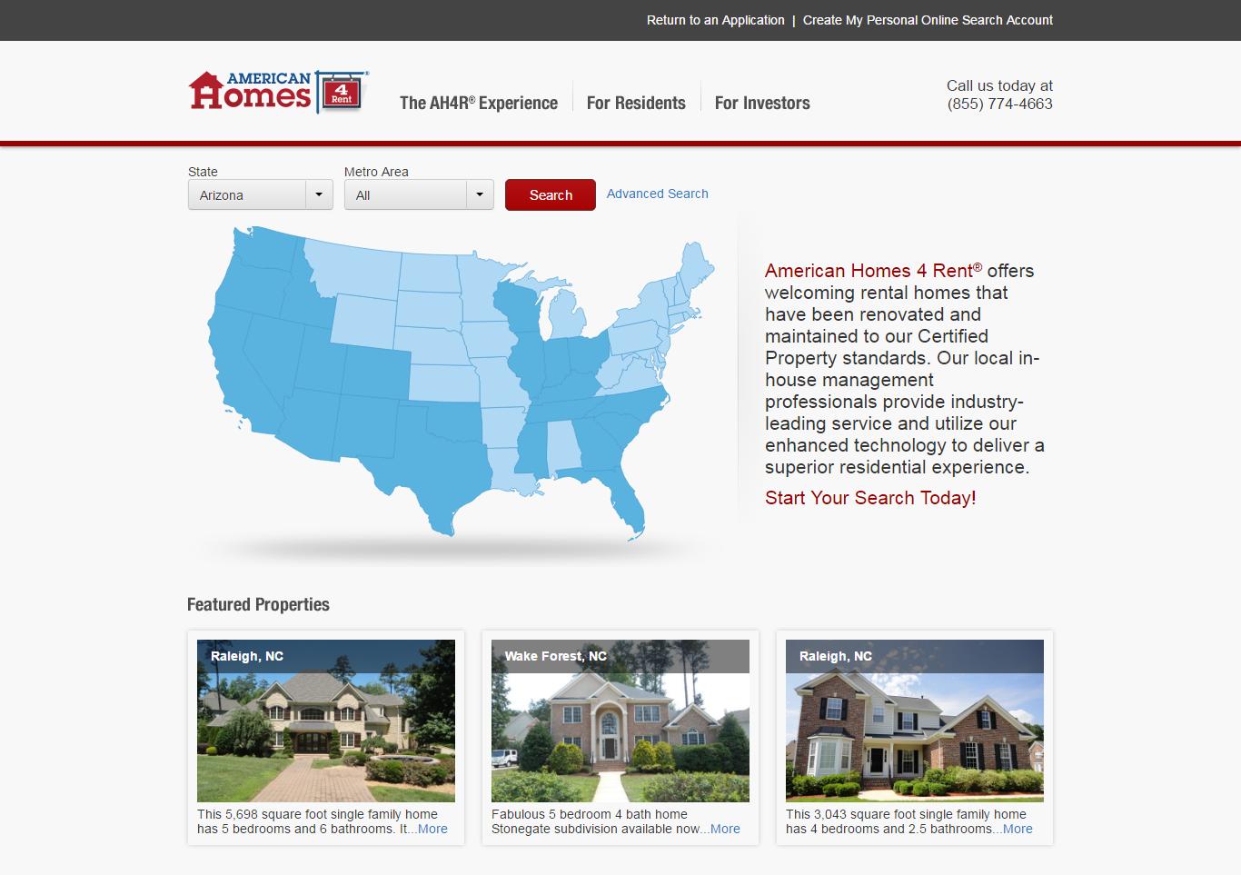 Pi technologies portfolios for American homes for rent